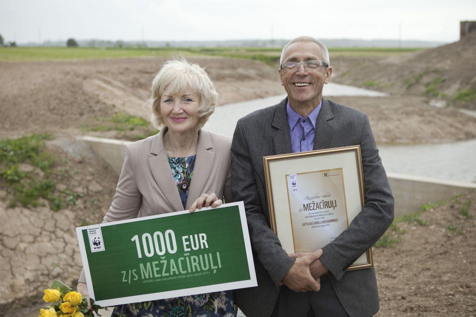 Läti talunikud Juris Cīrulis ja Vija Cīrule. Foto: Aija Krodere