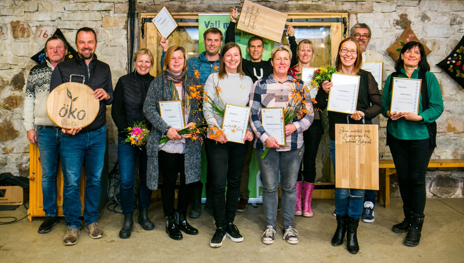 2019. a konkursil tunnustuse pälvinud maheettevõtjad. Foto: Lauri Laan