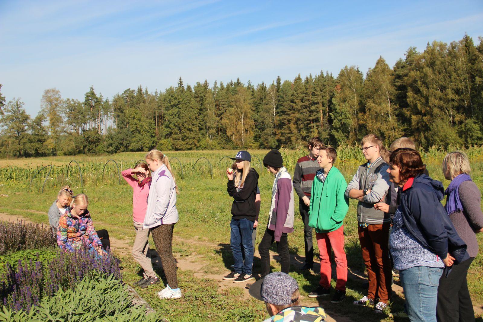 Mahetalu päev õpilastele Põlvamaal Peri Mahemõisas Foto:EMSA